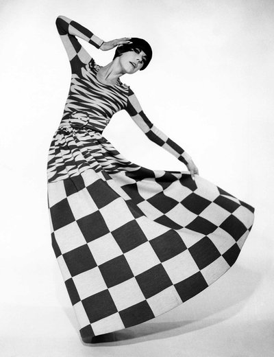 3|11  Peggy Moffitt modeling dress designed by Rudi Gernreich, Fall 1971 collection.Photograph © William Claxton, LLC, courtesy of Demont Photo Management & Fahey/Klein Gallery Los Angeles, with permission of the Rudi Gernreich trademark.