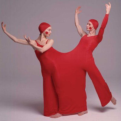 "6|11   Dancers Loretta Livingston and Kurt Weinheimerin ""duotard"" costume designed by Rudi Gernreich for the Lewitzky Dance Company's Inscape production, 1976. Photograph © Daniel Esgro."
